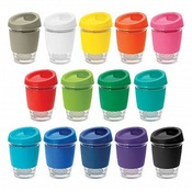 Reusable Glass Coffee Cup 340ml