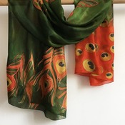 Organic Silk Scarf with Full Colour Printing